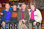 Seamus Courtney, Gortdrumakerrie, Muckross, second from left, pictured with Seamus O'Connor, Alfie Binns and Dave Fleming as he celebrated his 65th birthday in Jack C's bar, Killarney, on Friday night.