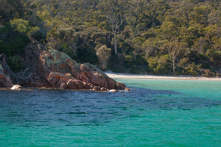 Edge of Wineglass Bay in Freycinet NP on Tasmania's East Coast