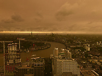 London Skyline is turned Red by Hurricane Ophelia - 16.10.2017