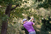 Matthew Fitzpatrick (ENG) in action on the 9th hole during the third round of the 76 Open D'Italia, Olgiata Golf Club, Rome, Rome, Italy. 12/10/19.<br /> Picture Stefano Di Maria / Golffile.ie<br /> <br /> All photo usage must carry mandatory copyright credit (© Golffile | Stefano Di Maria)