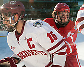 Steven Iacobellis (UMass - 16), Patrick Curry (BU - 11) - The Boston University Terriers defeated the University of Massachusetts Minutemen 5-3 on Sunday, January 8, 2017, at Fenway Park in Boston, Massachusetts.The Boston University Terriers defeated the University of Massachusetts Minutemen 5-3 on Sunday, January 8, 2017, at Fenway Park.