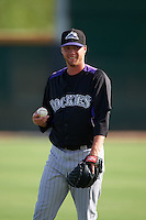 Colorado Rockies pitcher Trey Killian (70) during practice before an instructional league game against the SK Wyverns on October 10, 2015 at the Salt River Fields at Talking Stick in Scottsdale, Arizona.  (Mike Janes/Four Seam Images)
