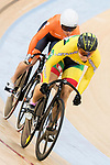 Migle Marozaite of the Lithuania team and Laurine van Riessen of the Netherlands team compete in the Women's Sprint - 1/16 Finals as part of the 2017 UCI Track Cycling World Championships on 13 April 2017, in Hong Kong Velodrome, Hong Kong, China. Photo by Chris Wong / Power Sport Images