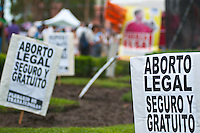 BUENOS AIRES, ARGENTINA, 08/03/2012 - Com uma manifestação na Plaza de Mayo e marcha mais para o Congresso, as organizações sociais e feministas celebrou o Dia Internacional da Mulher. FOTO: Patricio Murphy / Brazil Press Photo