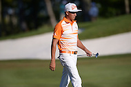 Gainesville, VA - August 2, 2015: Rickie Fowler walks the 18th hole of the Quicken Loans National at the Robert Trent Jones Golf Club in Gainesville, VA. August 2, 2015.  (Photo by Philip Peters/Media Images International)