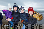 The Flynn family from Ballyheigue at the Ballyheigue Races on Saturday<br /> L-r, Ronan, Sarah, Ronan Óg and Deirdre Flynn.