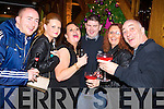 Patrick, Jessica and Sarah Kirrane (Newcastlewest) with Denis McAuliffe (Ashford) Susan Harrington (Newcastlewest) and Richard Harrington (Newcastlewest and London) celebrating New Year's Eve in the Lane bar, Killarney on Tuesday night.