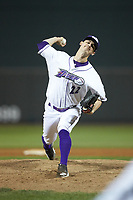 Winston-Salem Dash relief pitcher Danny Dopico (22) in action against the Salem Red Sox at BB&T Ballpark on April 20, 2018 in Winston-Salem, North Carolina.  The Red Sox defeated the Dash 10-3.  (Brian Westerholt/Four Seam Images)