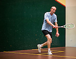 Andrew Cross of England and Mark Roberts of New Zealand in action at the center court during the World Masters Squash Championships 2014 on 06 July 2014 at the Hong Kong Squash Centre in Hong Kong, China. Photo by Victor Fraile / Power Sport Images