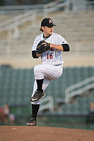 Kannapolis Intimidators relief pitcher Ben Wright (16) in action against the Lakewood BlueClaws at Kannapolis Intimidators Stadium on April 9, 2017 in Kannapolis, North Carolina.  The BlueClaws defeated the Intimidators 7-1.  (Brian Westerholt/Four Seam Images)