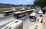 Buses at city centre bus station city of Valletta, Malta