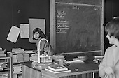 Science class, Whitworth Comprehensive School, Whitworth, Lancashire.  1970.