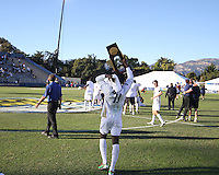 Darren Mattocks #11 of the University of Akron during the 2010 College Cup final against the University of Louisville at Harder Stadium, on December 12 2010, in Santa Barbara, California.Akron champions, 1-0.