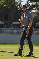 Kyle Stanley (USA) sinks his putt on 16 during 3rd round of the World Golf Championships - Bridgestone Invitational, at the Firestone Country Club, Akron, Ohio. 8/4/2018.<br /> Picture: Golffile | Ken Murray<br /> <br /> <br /> All photo usage must carry mandatory copyright credit (© Golffile | Ken Murray)