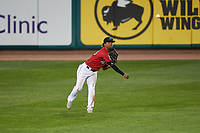 Billings Mustangs center fielder Reniel Ozuna (23) during a Pioneer League game against the Grand Junction Rockies at Dehler Park on August 15, 2019 in Billings, Montana. Billings defeated Grand Junction 11-2. (Zachary Lucy/Four Seam Images)