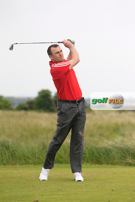 Tony O'Leary (Wexford) on the 15th tee during Round 2 of the East of Ireland in the Co. Louth Golf Club at Baltray on Sunday 1st June 2014.<br /> Picture:  Thos Caffrey / www.golffile.ie