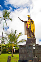the original cast of the statue of King Kamehameha the Great, Kapaau, Kohala, Big Island, Hawaii
