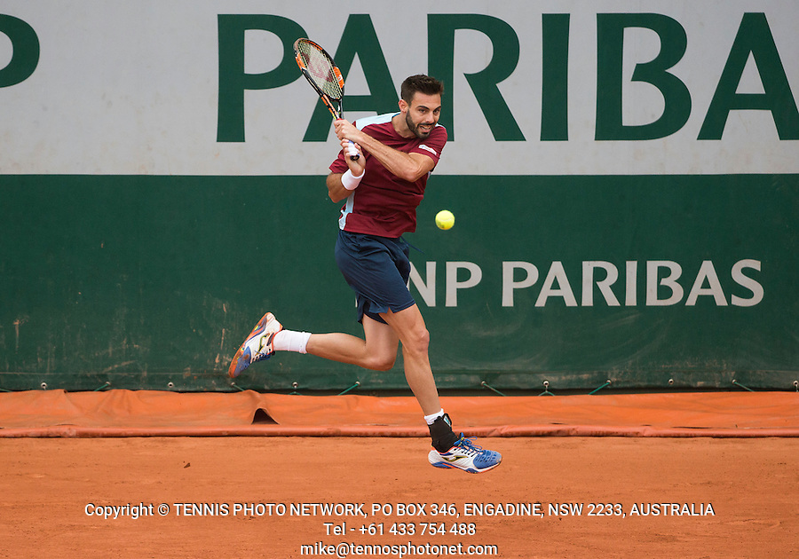 MARCEL GRANOLLERS (ESP)<br /> <br /> TENNIS - FRENCH OPEN - ROLAND GARROS - ATP - WTA - ITF - GRAND SLAM - CHAMPIONSHIPS - PARIS - FRANCE - 2016  <br /> <br /> <br /> <br /> &copy; TENNIS PHOTO NETWORK
