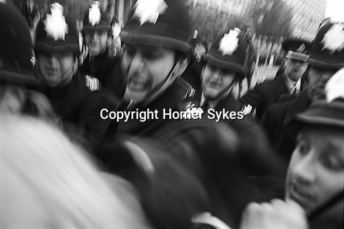 Police at the Anti Vietnam war demonstration Grosvenor Square London England. 17 March 1968.
