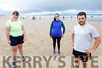 Ready for action for the Comfort for Chemo Beach Fitness Class fundraiser on Banna Beach on Saturday. <br /> Front right: James O'Connor<br /> Back Rachel McCann and Colette Clancy.