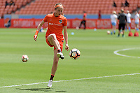 Houston, TX - Saturday April 15, 2017: Janine Beckie warming up  during a regular season National Women's Soccer League (NWSL) match won by the Houston Dash 2-0 over the Chicago Red Stars at BBVA Compass Stadium.
