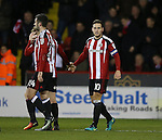 Billy Sharp of Sheffield Utd celebrates his second goal during the English League One match at Bramall Lane Stadium, Sheffield. Picture date: December 26th, 2016. Pic Simon Bellis/Sportimage