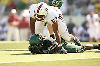 2 September 2006: Landon Johnson during Stanford's 48-10 loss to the Oregon Ducks at Autzen Stadium in Eugene, OR.