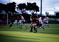 Action from the men's National Hockey League final between Harbour and Capital at National Hockey Stadium in Wellington, New Zealand on Sunday, 23 September 2018. Photo: Dave Lintott / lintottphoto.co.nz