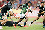 Branco Du Preez of South Africa runs with the ball during the match South Africa vs New Zealand, Day 2 of the HSBC Singapore Rugby Sevens as part of the World Rugby HSBC World Rugby Sevens Series 2016-17 at the National Stadium on 16 April 2017 in Singapore. Photo by Victor Fraile / Power Sport Images