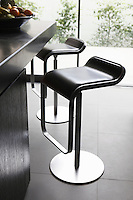 The black and chrome LEM stools are by Shin Azumi