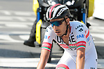Fabio Aru (ITA) UAE Team Emirates crosses the finish line at the end of Stage 3 of the 2019 Tour de France running 215km from Binche, Belgium to Epernay, France. 8th July 2019.<br /> Picture: Colin Flockton | Cyclefile<br /> All photos usage must carry mandatory copyright credit (© Cyclefile | Colin Flockton)