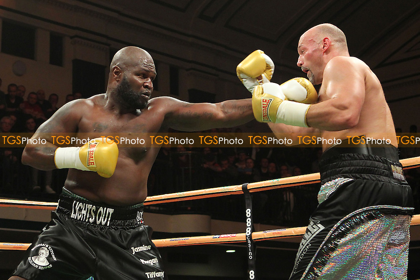 James Toney of the USA defeats Matt Legg of the UK - UK vs USA Prizefighter International Heavyweight Boxing at York Hall, Bethnal Green, London - 14/11/13 - MANDATORY CREDIT: Gavin Ellis/TGSPHOTO - Self billing applies where appropriate - 0845 094 6026 - contact@tgsphoto.co.uk - NO UNPAID USE