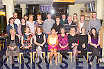 TRACK TIME: Siobhan Foley, Abbeyfeale (seated 4th left) enjoying a great time celebrating her 30th birthday with colleagues fro Listowel Community College at the Kingdom Greyhound Stadium on Friday.