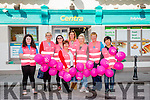 "Launching the annual Cancer Society ""Walk The World"" charity walk which takes place in Ballyheigue on Saturday at 1oclock outside the Centra Shop. were Front l-r Erica Moriarty, Mary Galway, Fiona Moriarty, Margaret Moriarty, Grainne Galway, Eilish O'Riordan, Veronica O'Riordan and Cindy Chen."
