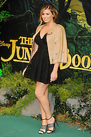 "Jessica Wright<br /> European premiere of ""The Jungle Book"" <br /> BFI IMAX, London"