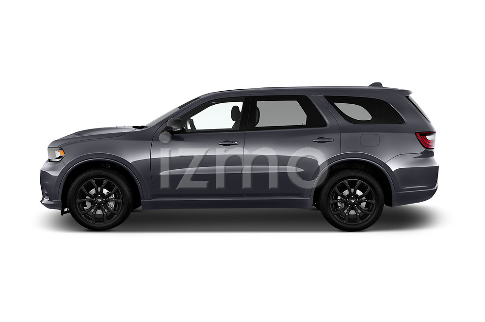 Car driver side profile view of a 2019 Dodge Durango R/T RWD 5 Door SUV