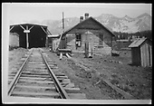 RGS Lizard Head facilities with section house and snowshed.<br /> RGS  Lizard Head, CO  ca. 1951