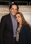 """Jeremy Secomb and Siobhan McCarthy attend a press reception for the cast of The Tooting Arts Club production of """"Sweeney Todd''  at AOC L'aile ou la Cuisse on February 2, 2017 in New York City."""