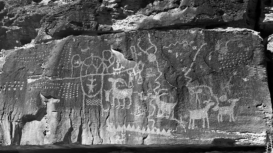 The Daddy's Canyon Complex is one many archeological sites in the Nine Mile Canyon National Backcountry Byway near Wellington, Utah.  This is a great place to explore petroglyphs and pictographs from the Fremont and Ute cultures.  At 45 miles, Nine Mile Canyon is said to be the worlds longest art gallery with at least 63 rock art sites found along the drive.