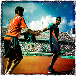 Roland Garros. Paris, France. May 27th 2012.French player Jo-Wilfried TSONGA against Andrey Kuznetsov...