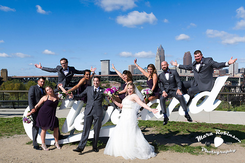 bridal party by Cleveland wedding photographer Mara Robinson Photography