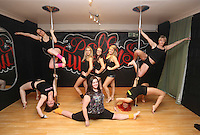 Pictured clockwise from bottom LEFT: Kimberley Jones, Reb Wilkshire, Laura Fidoe, Sian O'Shea, Tina Lediard, organiser Lisa Broughton and Emily Kennedy (FRONT). Saturday 22 February 2014<br />