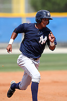New York Yankees minor league player outfielder Eduardo Sosa #30 runs the bases during a game vs the Toronto Blue Jays at the Englebert Minor League Complex in Dunedin, Florida;  March 21, 2011.  Photo By Mike Janes/Four Seam Images