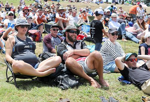 20th December, 2017, Whangarei, New Zealand;  Fans. New Zealand Black Caps versus West Indies, first One Day International cricket, Cobham Oval, Whangarei, New Zealand. Wednesday, 20 December, 2017.