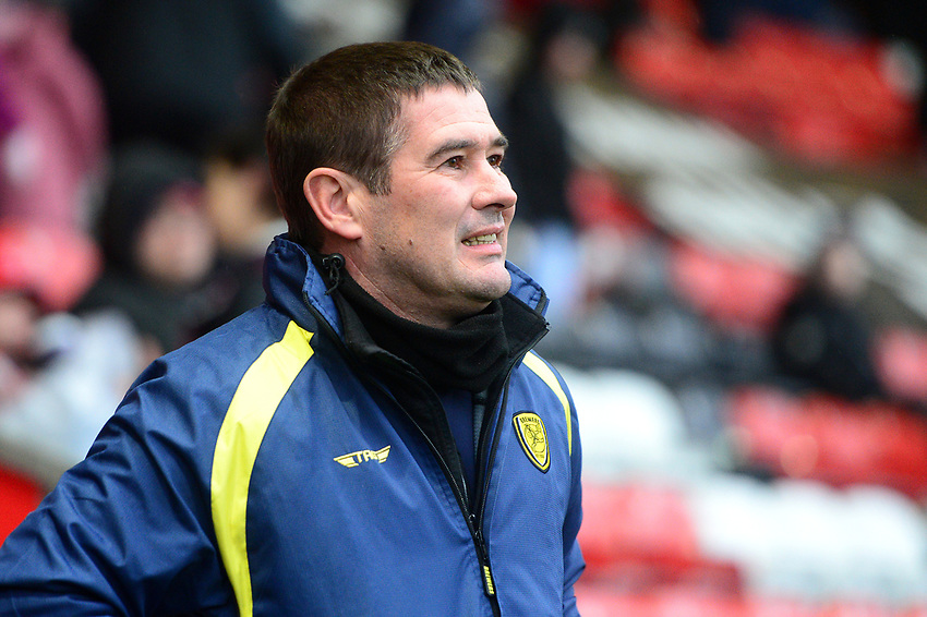 Burton Albion manager Nigel Clough looks on<br /> <br /> Photographer Richard Martin-Roberts/CameraSport<br /> <br /> The EFL Sky Bet League One - Saturday 15th December 2018 - Fleetwood Town v Burton Albion - Highbury Stadium - Fleetwood<br /> <br /> World Copyright © 2018 CameraSport. All rights reserved. 43 Linden Ave. Countesthorpe. Leicester. England. LE8 5PG - Tel: +44 (0) 116 277 4147 - admin@camerasport.com - www.camerasport.com
