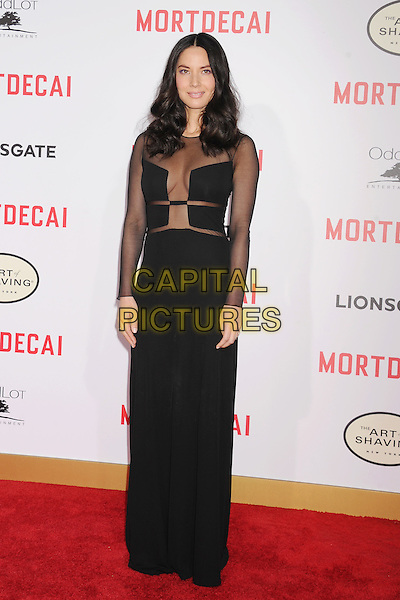 HOLLYWOOD, CA - JANUARY 21: Actress Olivia Munn arrives at The Los Angeles Premiere Of 'Mortdecai' at TCL Chinese Theatre on January 21, 2015 in Hollywood, California.<br /> CAP/ROT/TM<br /> &copy;TM/Roth Stock/Capital Pictures