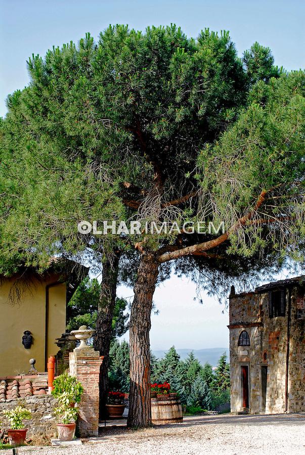 Vila no Vale do Chianti. Toscana. Itália. 2006.  Foto de Luciana Whitaker.