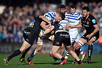 Charlie Ewels of Bath Rugby takes on the Exeter Chiefs defence. Gallagher Premiership match, between Exeter Chiefs and Bath Rugby on March 24, 2019 at Sandy Park in Exeter, England. Photo by: Patrick Khachfe / Onside Images