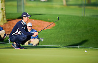 Ryo Ishikawa (JPN) lines up his putt on 1 during round 1 of the Shell Houston Open, Golf Club of Houston, Houston, Texas, USA. 3/30/2017.<br /> Picture: Golffile | Ken Murray<br /> <br /> <br /> All photo usage must carry mandatory copyright credit (&copy; Golffile | Ken Murray)