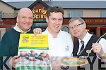 Pat Gill, Pat Kearney and Martin Duggan from Darby O'Gills hotel Killarney who will be donating 1euro for every bowl of soup sold from the 5th to 11th March to Gorta ..